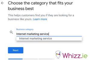 Choose-your-category-name-on-Google-My-Business-by-Whizz.ie