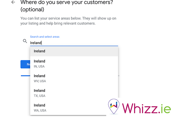 Where-do-you-serve-your-customers-on-Google-My-Business-by-Whizz.ie